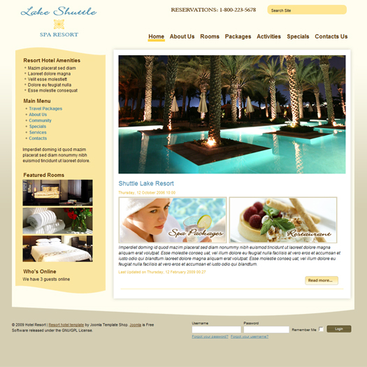 Hotel Booking website|website design